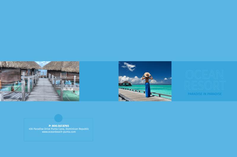 Ocean Resort Pocket Folder Template Preview 2