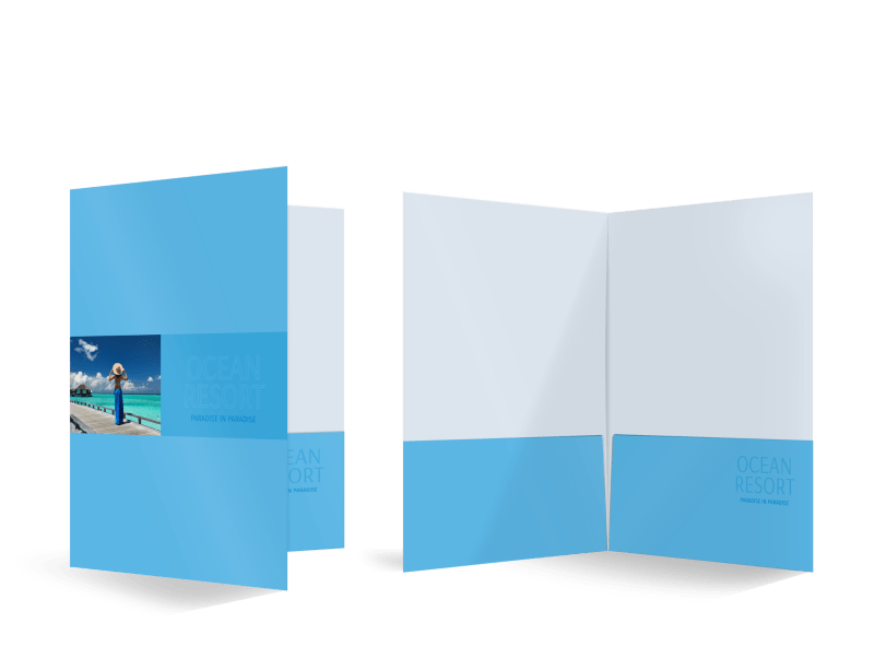 Ocean Resort Pocket Folder Template Preview 1