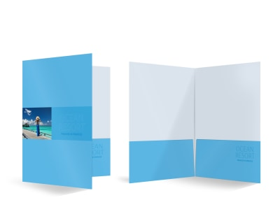 Ocean Resort Bi-Fold Pocket Folder Template