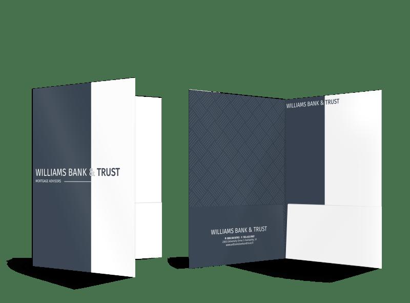 Bank & Trust Pocket Folder Template Preview 1