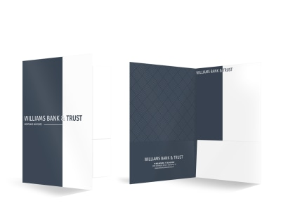 Bank & Trust Bi-Fold Pocket Folder Template