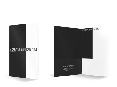 Generic Bi-Fold Pocket Folder Template 16073 preview
