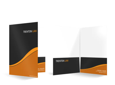 Trenton Law Bi-Fold Pocket Folder Template preview