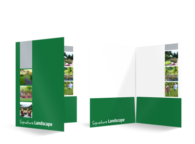 Signature Landscape Bi-Fold Pocket Folder Template preview