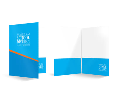 School District Bi-Fold Pocket Folder Template