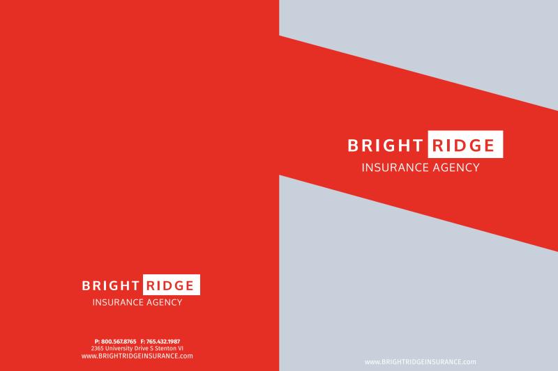 Bright Ridge Insurance Agency Pocket Folder Template Preview 2