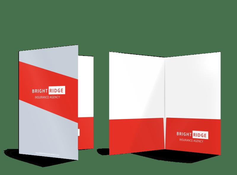 Bright Ridge Insurance Agency Pocket Folder Template Preview 1