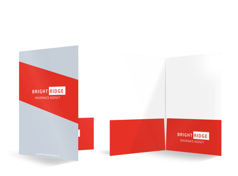 Bright Ridge Insurance Agency Bi-Fold Pocket Folder Template