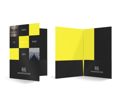 RAS Architecture Studio Bi-Fold Pocket Folder Template