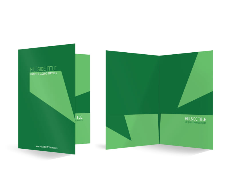 Hillside Title Company Bi-Fold Pocket Folder Template