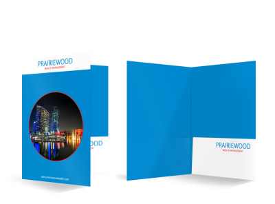 Prairiewood Wealth Management Bi-Fold Pocket Folder Template preview