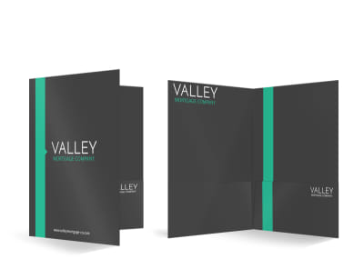 Valley Mortgage Bi-Fold Pocket Folder Template preview