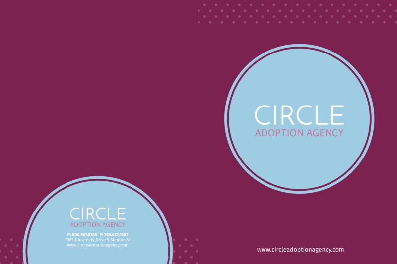 Circle Adoption Agency Pocket Folder Template Preview 2