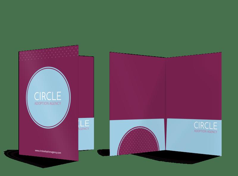 Circle Adoption Agency Pocket Folder Template Preview 1