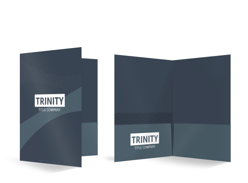 Trinity Title Company Bi-Fold Pocket Folder Template