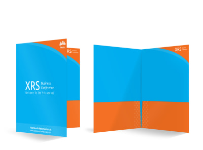 XRS Business Conference Bi-Fold Pocket Folder Template
