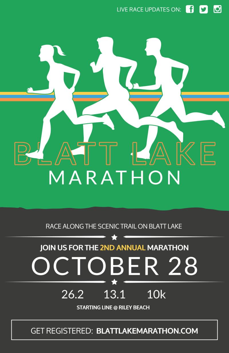 Blatt Lake Marathon Poster Template Preview 2