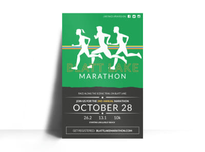 Blatt Lake Marathon Poster Template preview