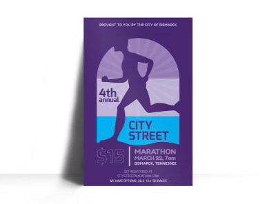 City Street Marathon Poster Template preview