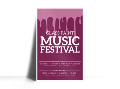 Glass Paint Music Festival Poster Template preview