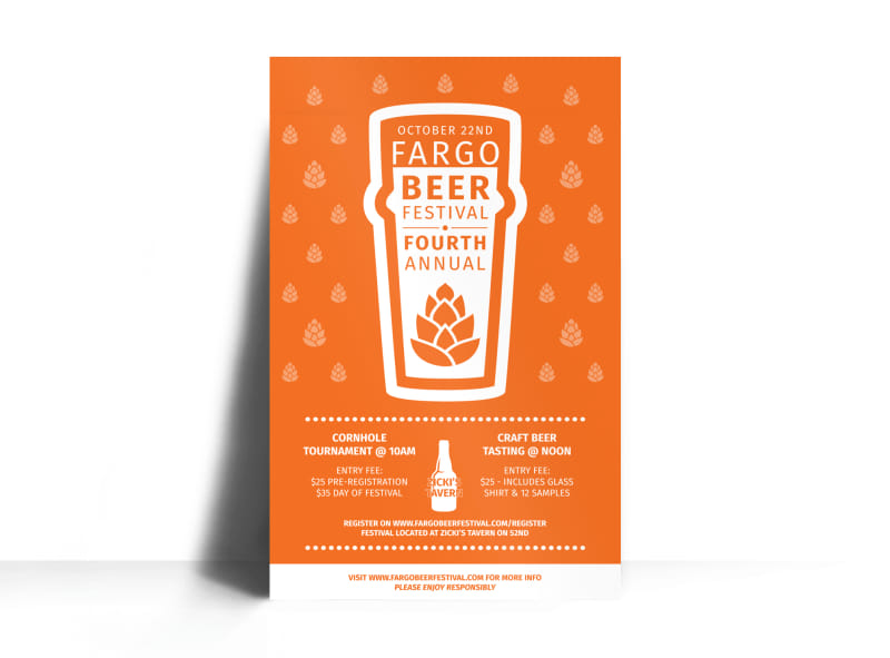 October Beer Festival Poster Template Preview 3