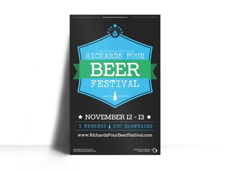 Richards Pour Beer Festival Poster Template