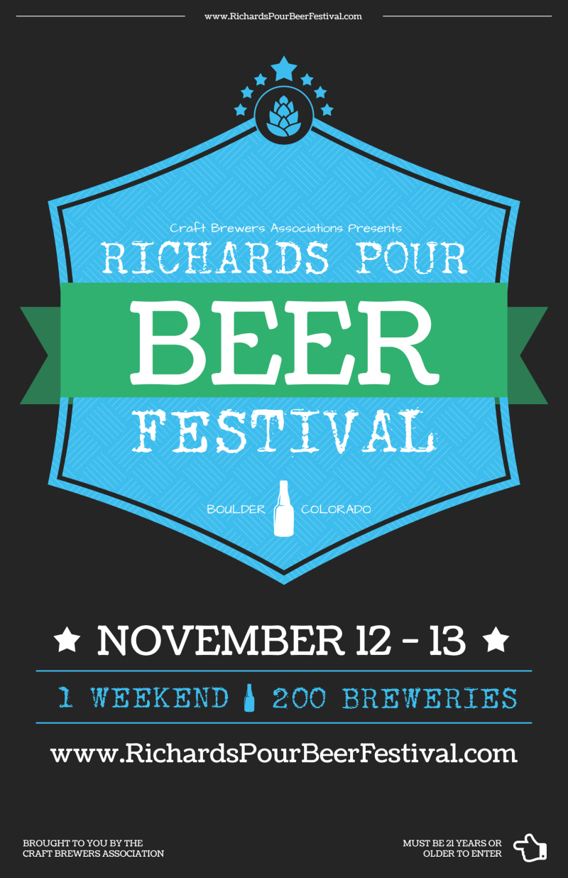 Richards Pour Beer Festival Poster Template Preview 2