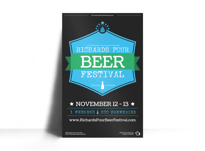 Richards Pour Beer Festival Poster Template Preview 1