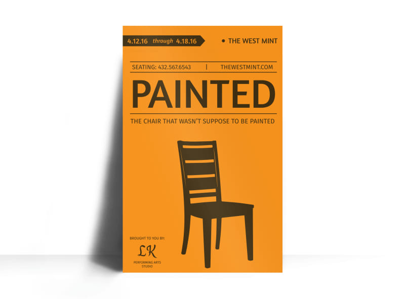 Painted Theater Show Poster Template Preview 3