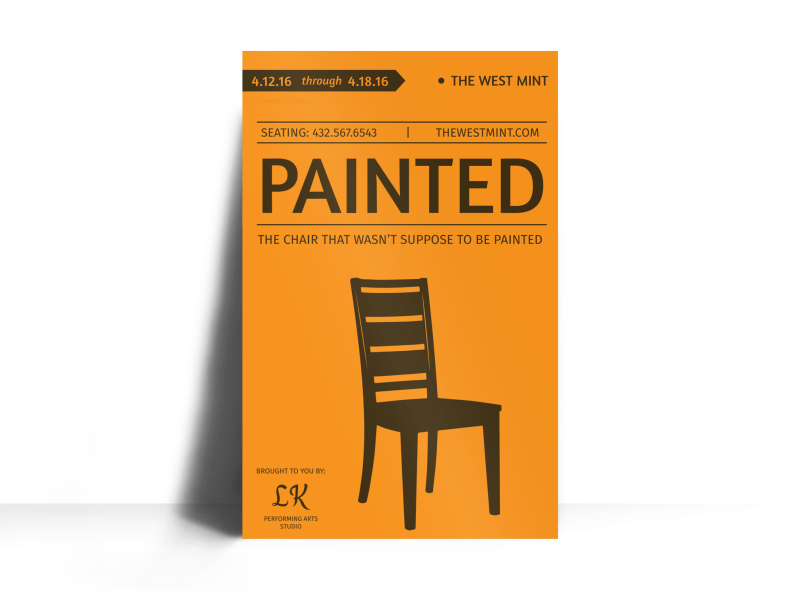 Painted Theater Show Poster Template Preview 1