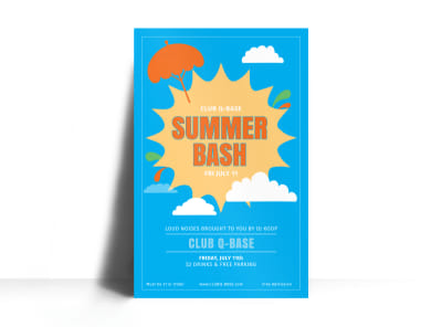 Summer Bash Poster Template preview