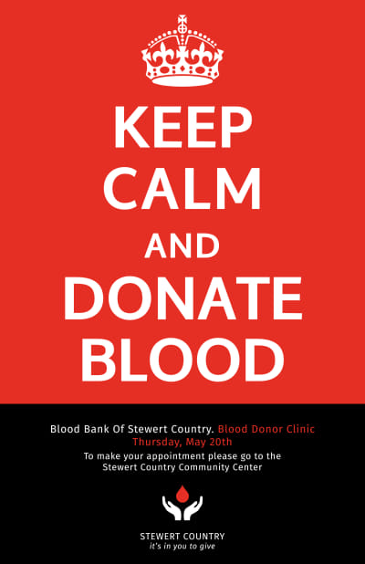 Blood Donation Poster Template Preview 1
