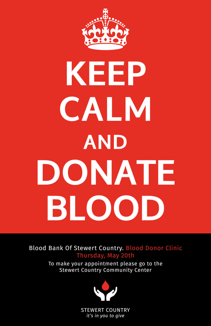 Blood Donation Poster Template Preview 2