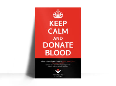 Blood Donation Poster Template preview