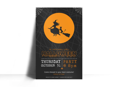 Halloween Party Poster Template preview