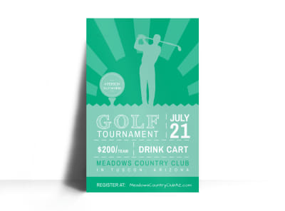 Golf Tournament Poster Template preview