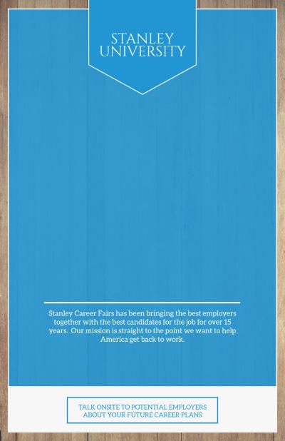 Career Fair Poster Template Preview 1