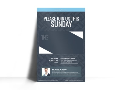 Resurrection Church Poster Template preview