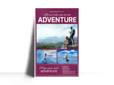 Travel Adventure Poster Template preview