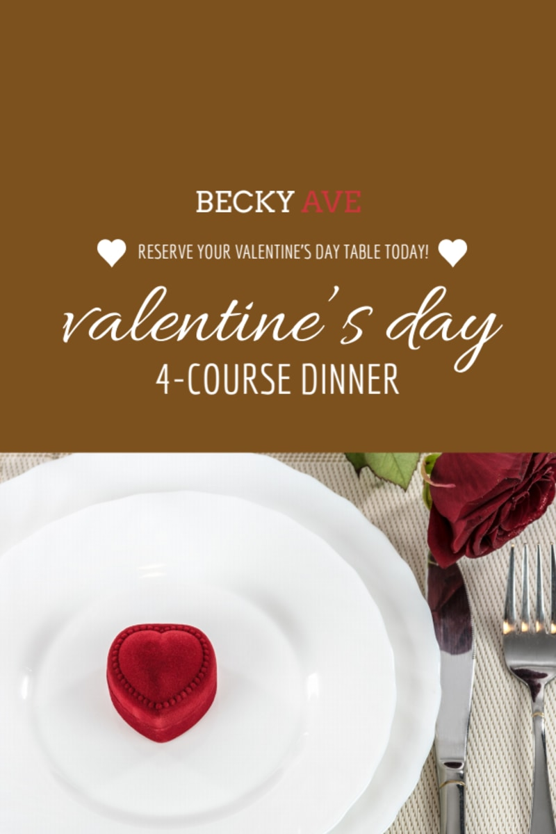 Valentin's Day Dinner Table Tent Template Preview 3