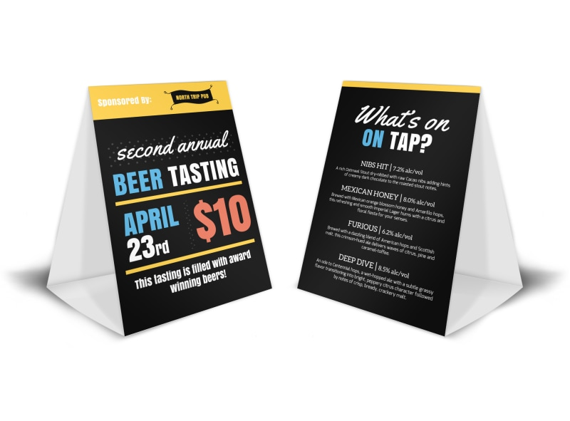 beer tasting table tent template mycreativeshop