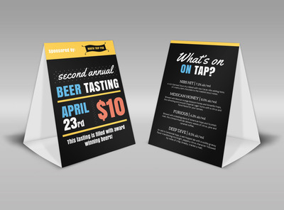 Beer Tasting Table Tent Template