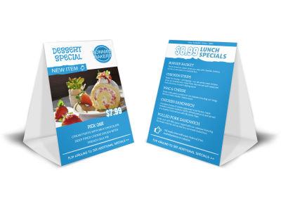 Dessert Special Table Tent Template preview