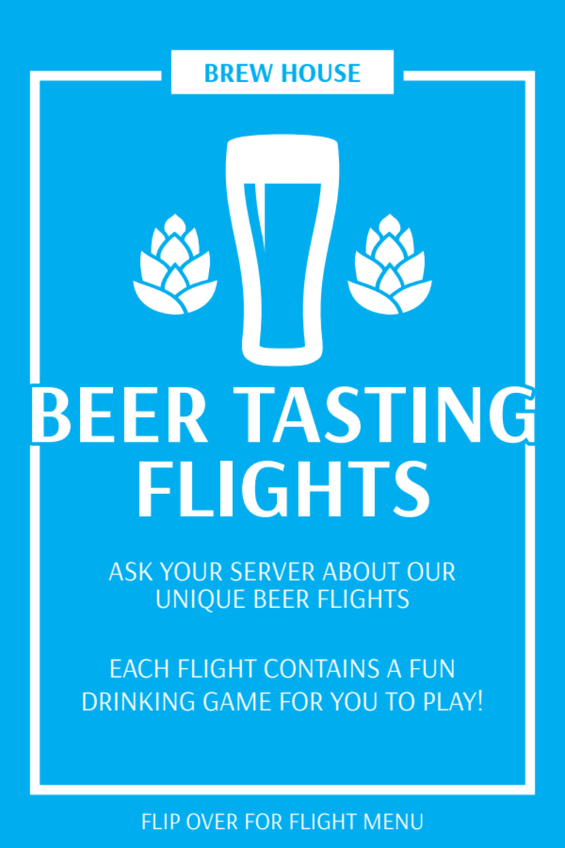 Beer Tasting Table Tent Template Preview 2