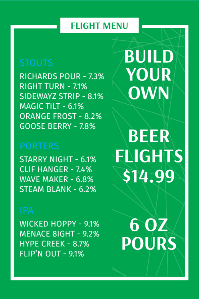 Beer Tasting Table Tent Template Preview 3