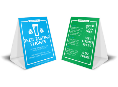 Beer Tasting Flights Table Tent Template