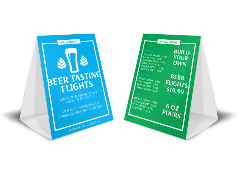 Beer Tasting Table Tent Template Preview 1