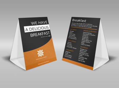 Springfield Hotel Table Tent Template