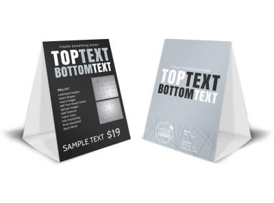 Generic Table Tent Template 16114 preview