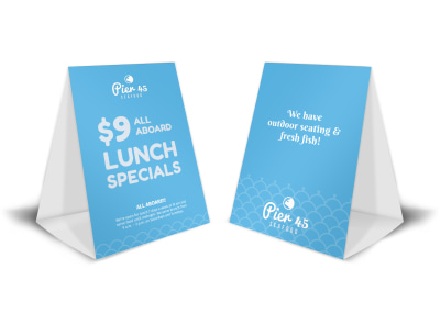 Pier 45 Lunch Specials Table Tent Template preview
